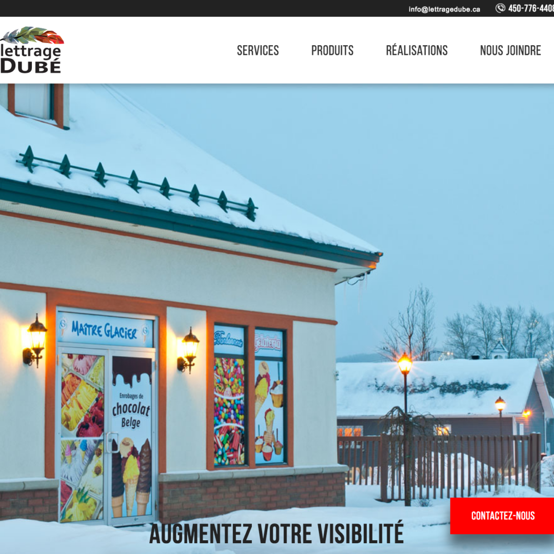 Site web Lettrage Dubé